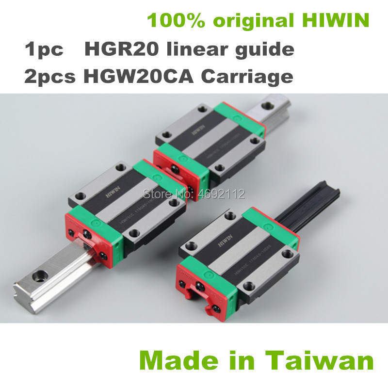 100% HIWIN 1pcs HGR20 200 250 300 350 400 450 500 550 600mm linear guide rail + 2pcs HGW20CA linear block carriage CNC parts100% HIWIN 1pcs HGR20 200 250 300 350 400 450 500 550 600mm linear guide rail + 2pcs HGW20CA linear block carriage CNC parts