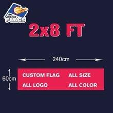 2x8FT Камуфляж Пользовательские флаг 60X240 см полиэстер 100D Бесплатная футболка с дизайном цифровой печати все стили и логотипы Настроить баннер ЛГБТ
