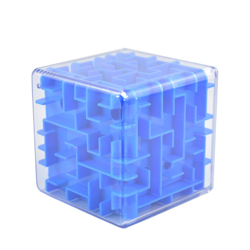 3D Mini Speed Cube Maze Magic Cube Puzzle Game Cubos Magicos Learning Toys Labyrinth Rolling Ball Toys For Chilren Adult