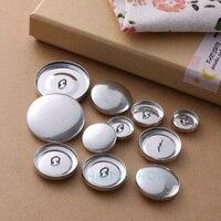 ラウンド生地布くるみボタン金属 DIY バッグ布バックルキットプレスパンボタン布ベースで 1 セットハンドツール