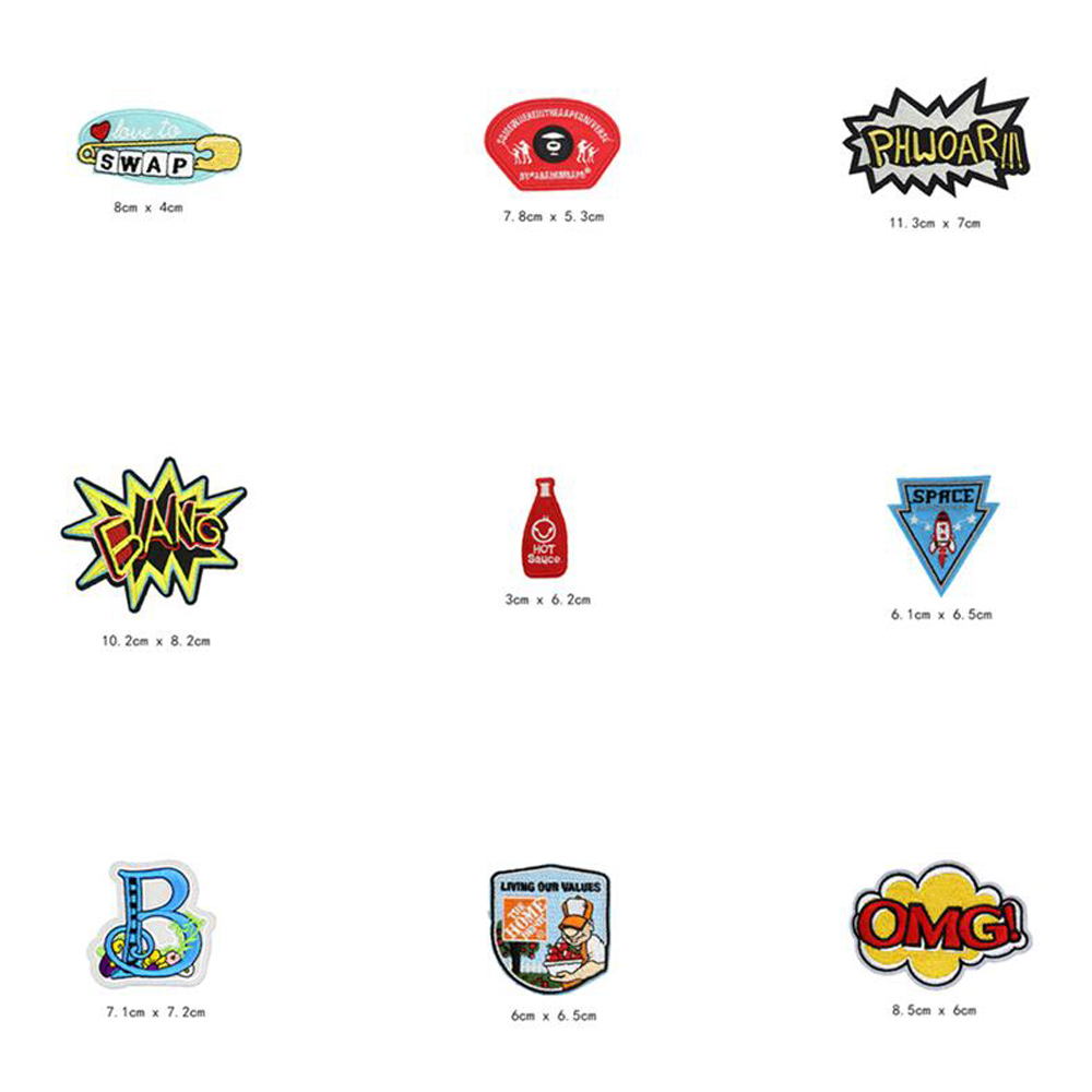 BANG Beer OMG Letter Patches Cap Shoe Iron On Embroidered Appliques DIY Apparel Accessories Patch Clothing Fabric Badges BU214