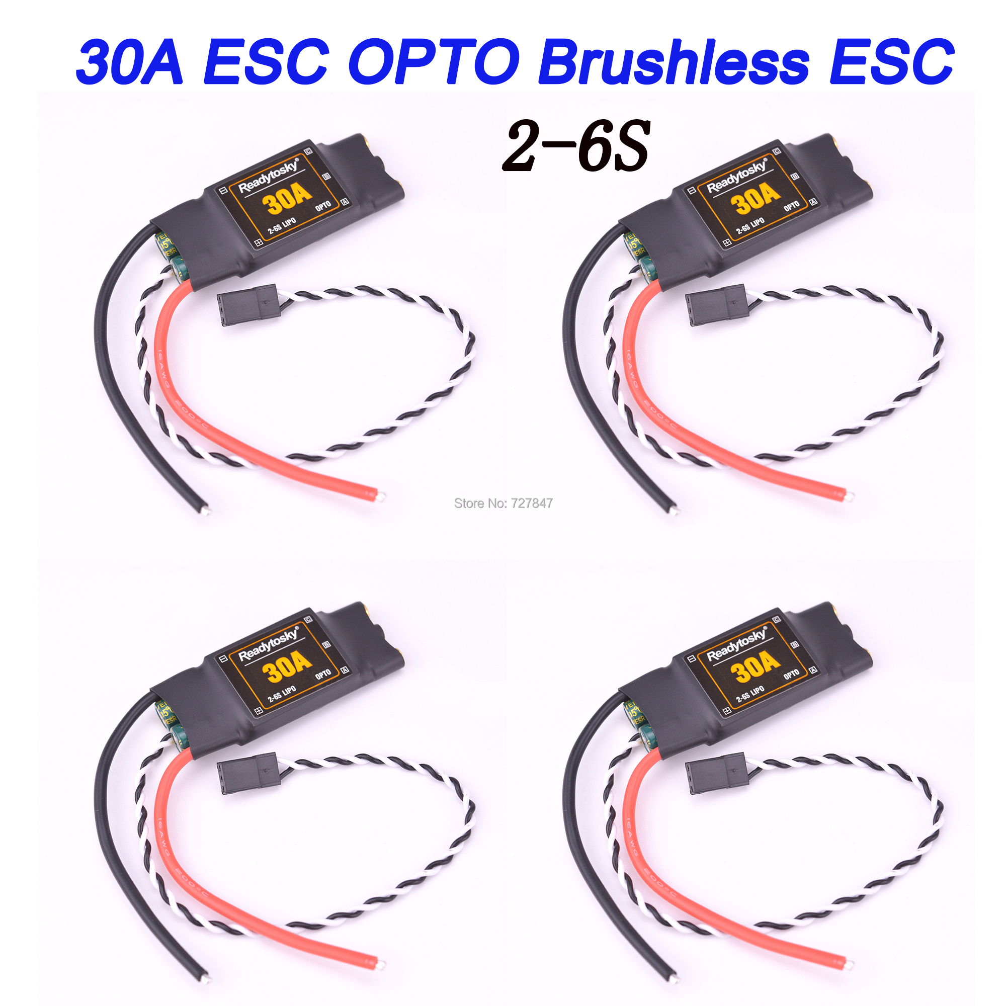 NOVA 30A 2-6 S Brushless ESC OPTO ESC Controlador Eletrônico de Velocidade Para F450 S500 ZD550 RC Helicóptero Quadcopter