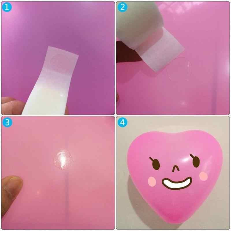 1 لفة/100 قطعة بالون الغراء نقطة نقطة الوجهين بالون مرفق الغراء نقطة إرفاق بالون ملصقات زينة حفلات الزفاف