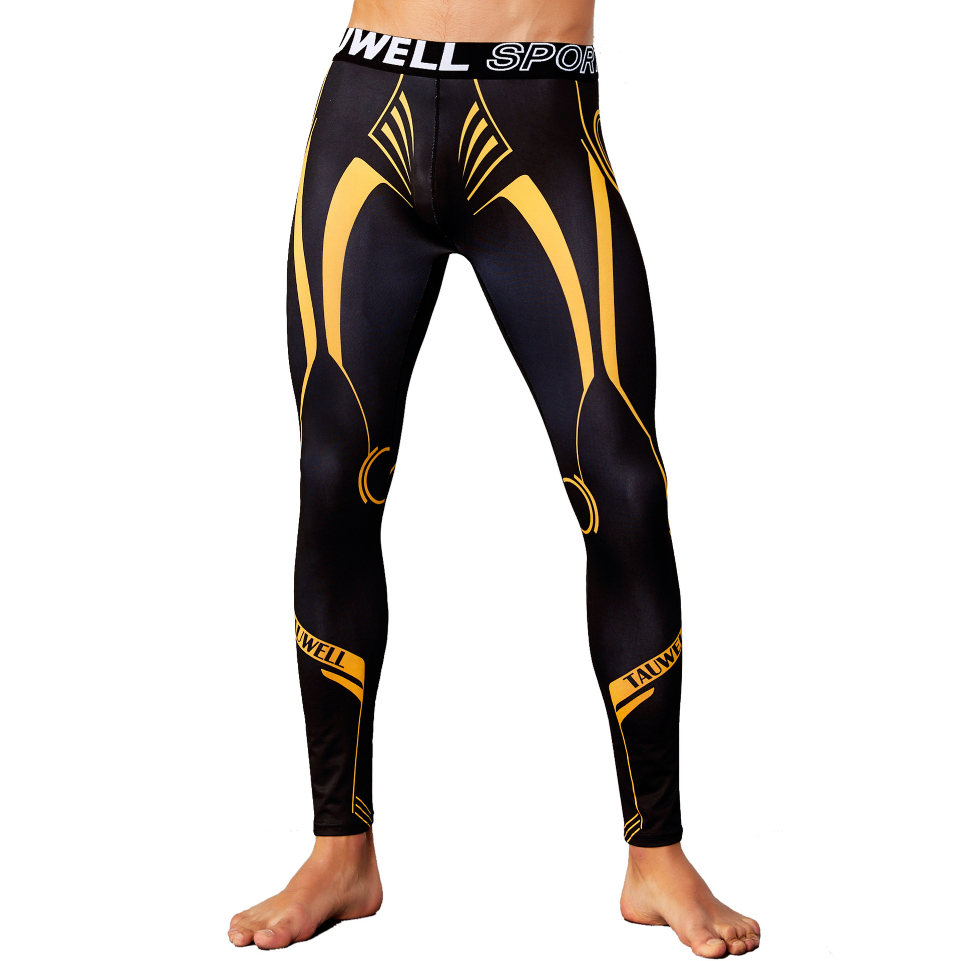Sexy Mens Compression Pants Running Tights For Men Gym Sport Leggings Clothing Man Exercise Training Fitness Leggins Brand