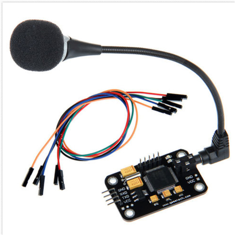 LEORY 1 Set Voice Recognition Module  Microphone Wire Speech Recognition Voice Control Board For Arduino Compatible