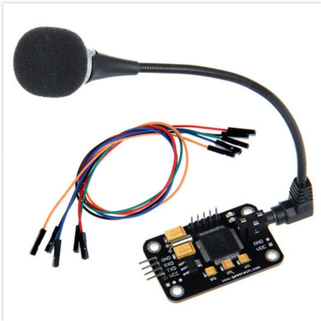 LEORY 1 thiết lập Giọng Nói Công Nhận Mô-đun Microphone Dây Nhận Dạng Giọng Nói Bằng Giọng Nói Điều Khiển Ban Đối Với Arduino Tương Thích