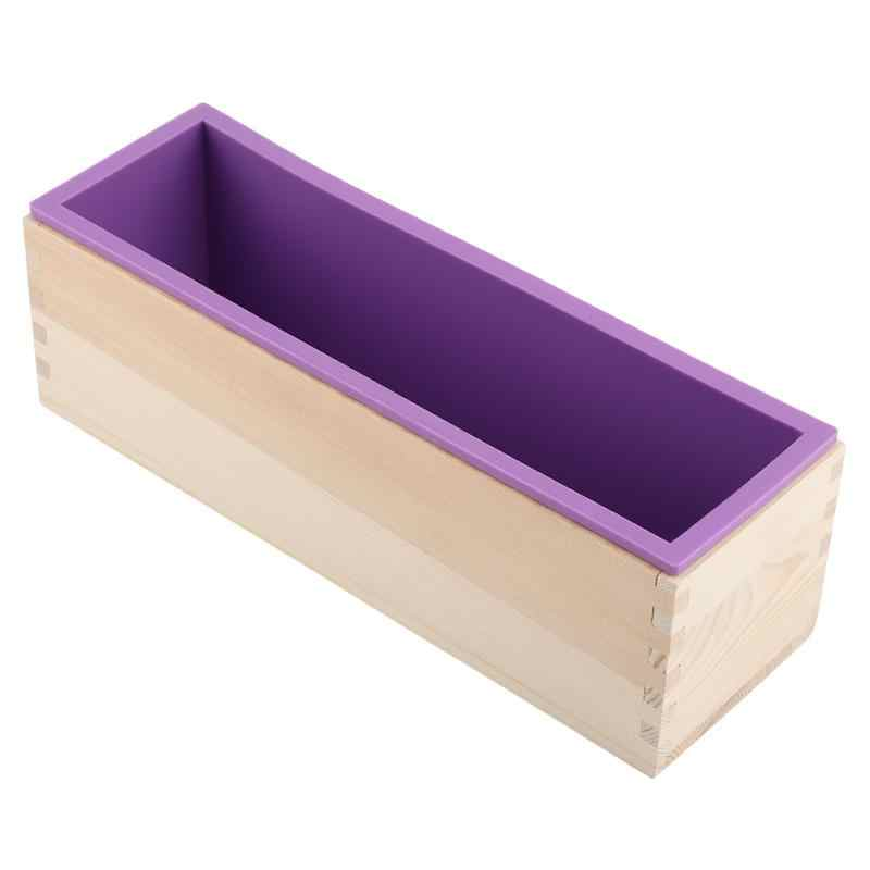 1200g Silicone Soap Mold Rectangular Wooden Box with Flexible Liner for DIY Handmade Loaf Mould Soap mold