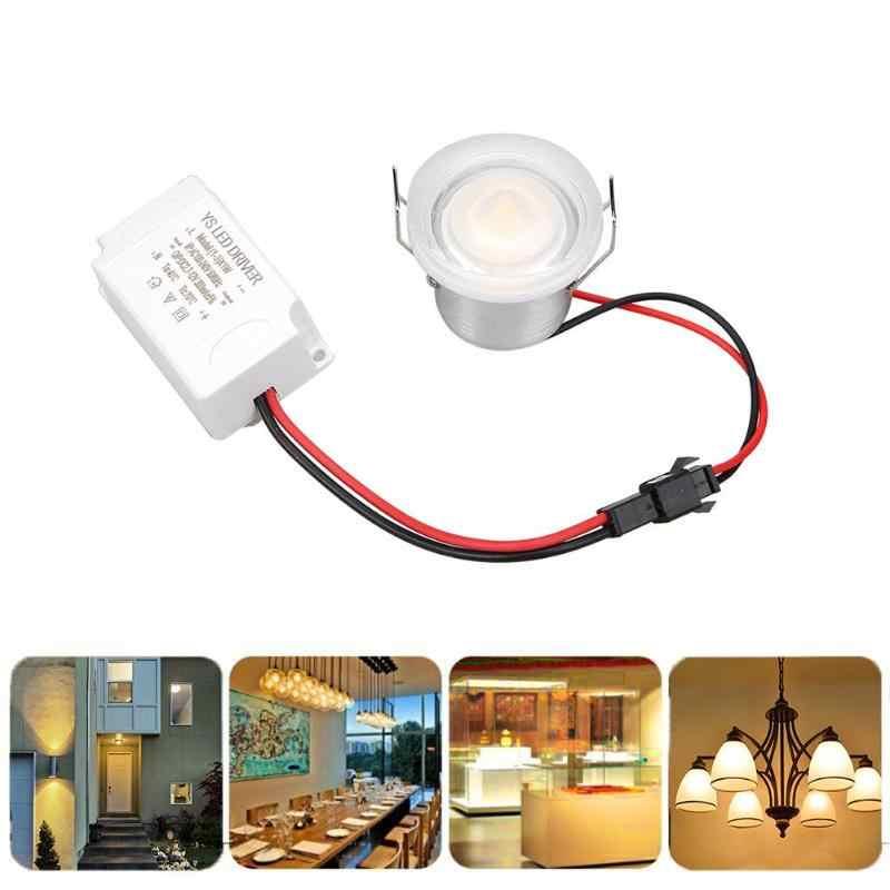 Adjustable 1W LED Ceiling Lights Cabinet light Recessed Spot Light 360 Degree Ceiling Lamp AC 86-265V for Home Display Case