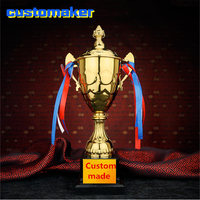 Top quality Customized Metal Gold Plating Trophy for Parties Craft Souvenir Gold Cup Trophies for Sport Tournaments Competitions