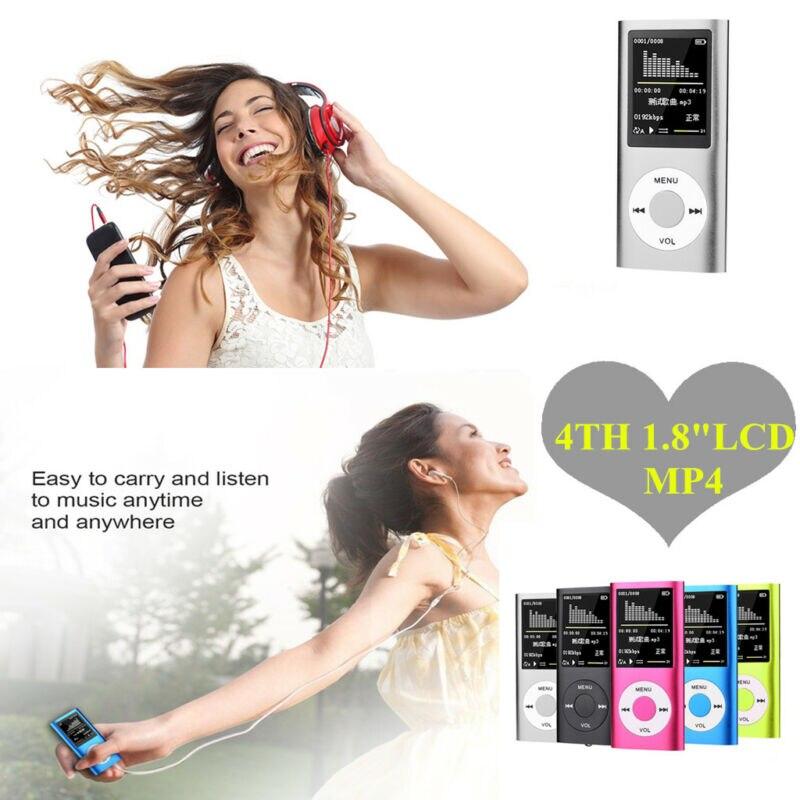 Портативный мультимедийный плеер в стиле IPod, 1,8 дюйма, ЖК-дисплей, MP3, MP4, музыка, видео, FM-радио, стабильное использование для зарядки, FM-радио, ...