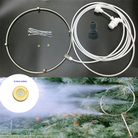 F190 Water Sprayer Fine Fog Ring System with Brass Mist Nozzle For Low Pressure Misting System