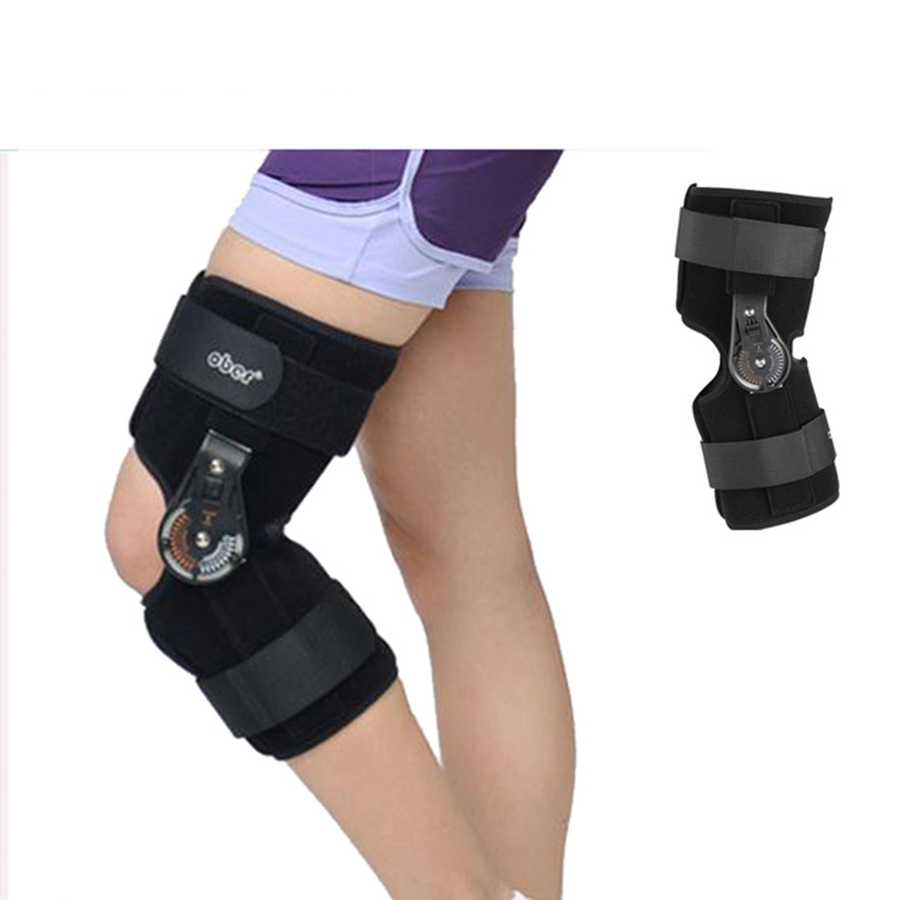 Knee Splint Brace Adjustable Knee Joint Support Orthosis Medical Hinged Support Patella Fracture Injury Fix Stabilizer
