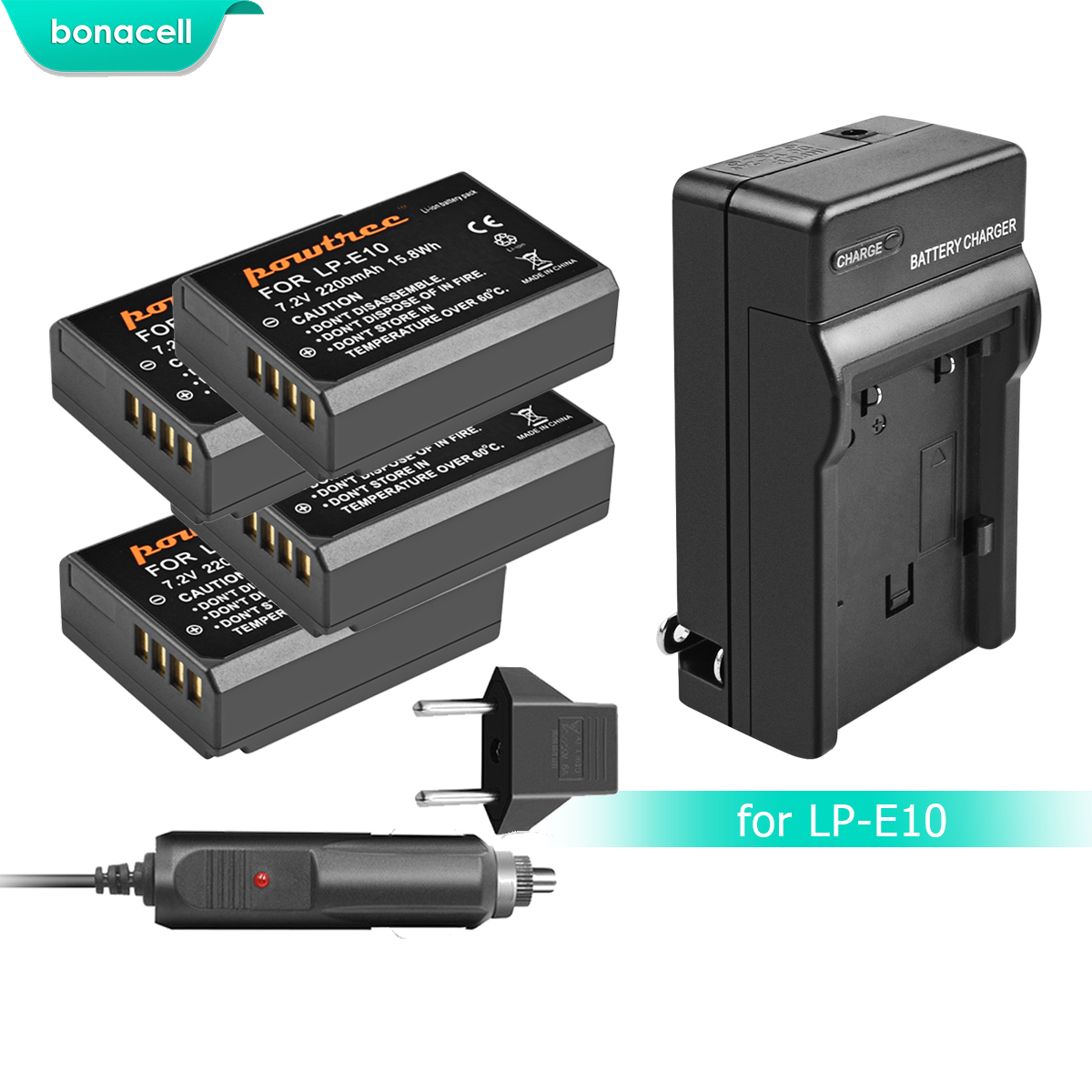 Bonacell 2200mAh LP-E10 LP E10 LPE10 Camera Battery+Charger For Canon 1100D 1200D 1300D Rebel T3 T5 KISS X50 X70 Battery L10Bonacell 2200mAh LP-E10 LP E10 LPE10 Camera Battery+Charger For Canon 1100D 1200D 1300D Rebel T3 T5 KISS X50 X70 Battery L10