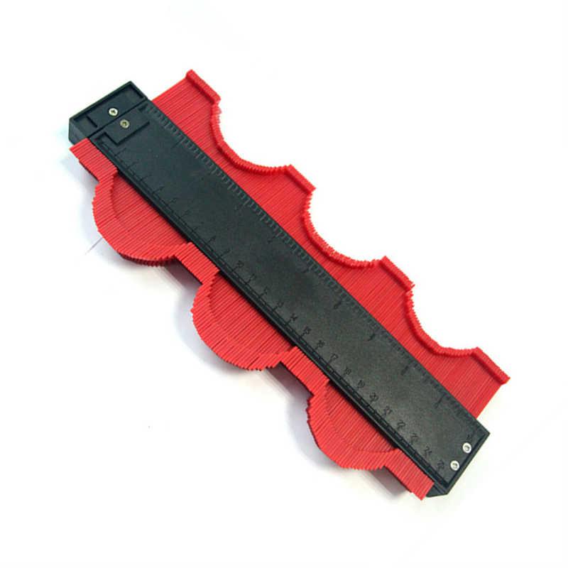 DANIU 250mm 10 אינץ רוחב תבנית עקמומיות בקנה מידה שליט קווי המתאר מד רבד שטיח עץ אריח פרופיל למדוד שליט כללי