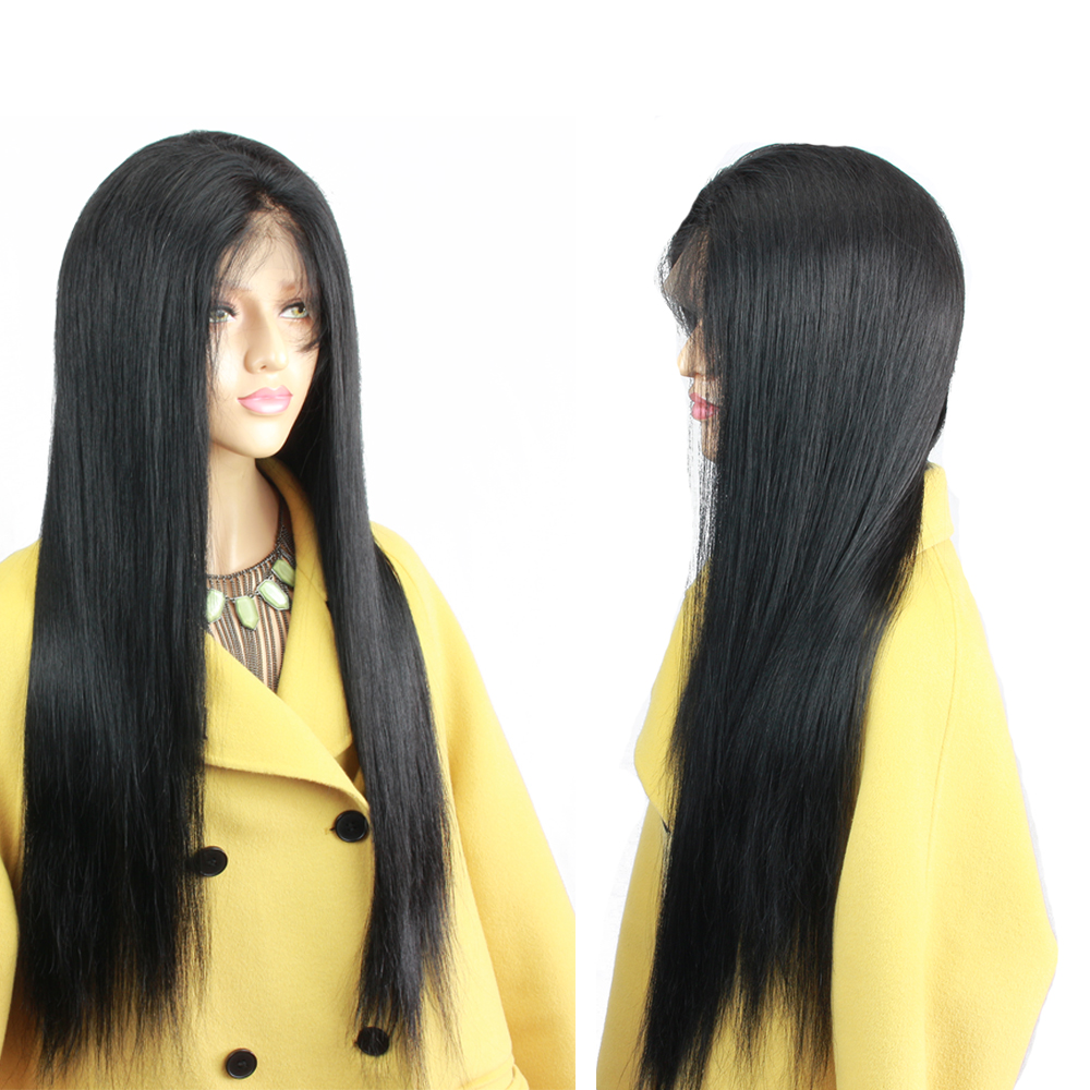 Eseewigs Silk Base Full Lace Human Hair Wigs Natural Baby Hair Around Pre Plucked Hair Line Silky Straight Brazilian Remy Hair