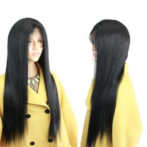 Image 4 - Eseewigs משי בסיס מלא תחרת שיער טבעי פאות טבעי תינוק שיער סביב מראש קטף שיער קו משיי ישר ברזילאי רמי שיער