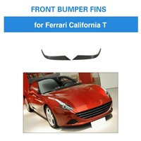 Carbon Fiber Front Bumper Fins For Ferrari California 2015 2018 T Style