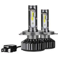 Car Light Source 2pcs 6000k White H4 55W LED Car Headlight High Brightness Auto Car Head Lamp Fog Driving Light Bulb