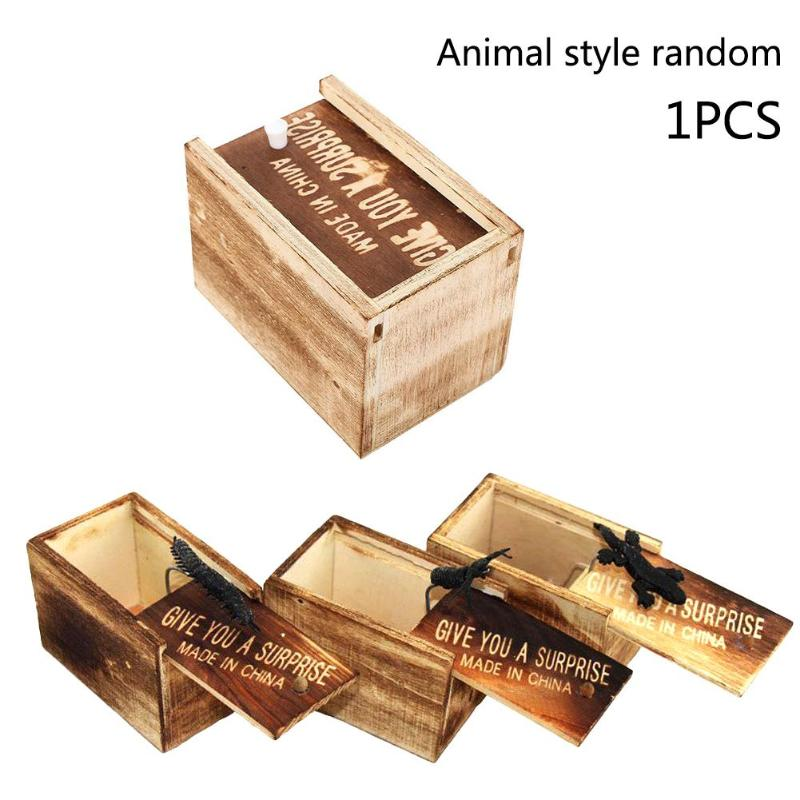 Toys & Hobbies 1 Pcs Funny Toy Whole Wooden Box Scream Toys April Fools Day Scary Horror And Surprised To Move Toy Joke Random Style
