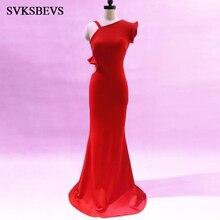 купить SVKSBEVS Ruffles One Shoulder Illusion Hollow Out Mermaid Long Dresses Elegant Party Zipper Backless Maxi Dress дешево