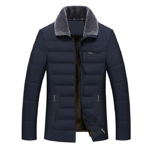 Image 1 - Parka épaisse matelassée en coton pour hommes, veste dhiver classique pour hommes, veste longue matelassée en polaire, vêtements décontracté