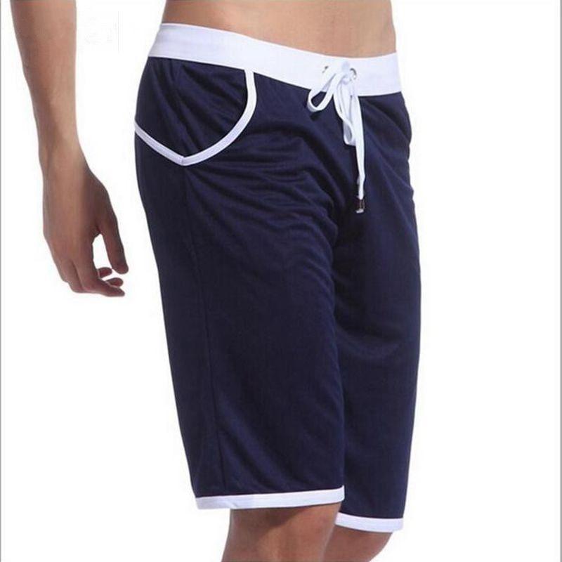WJ Zomer Casual Sportbroek herenbroek elastisch merk mannelijke capri mode knie-lengte slim Gyms korte broek workout sneldrogend