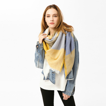 New Fashion Winter Scarf Women 2018 Triangle Warm Plaid Luxury Brand Ladies Cashmere Scarves And Shawls Drop Shipping