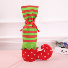 10 Pcs/Lot Spotted Elves Socks Xmas Christmas Gift Bags Candy Bag Party Supplies Winter Decorations 2018 for Home