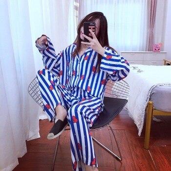 cc649e3ece Nueva llegada pijamas de las mujeres conjuntos de Kawaii dibujos animados  suave pijama de ropa de dormir Bedgown comodidad pijamas para mujeres