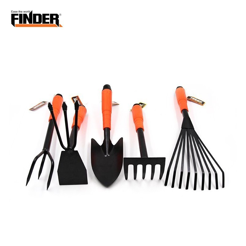 FINDER 5pcs Mini Garden Flower Tools Set Hardware Gardening Tool Archaeology Children Shovel Hoe Hoes Scoop Teeth Claw Spade
