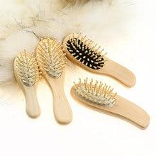 купить 1*Massage Comb Paddle Brush Antistatic Natural Wooden Massage Hairbrush Comb Scalp Health Care Paddle Brush по цене 133.32 рублей