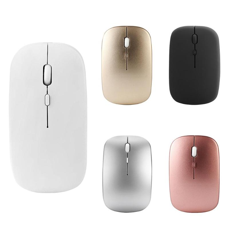 Ultra-Thin Wireless Mouse Silent Computer Mouse 1600DPI Mice Rechargeable Ergonomic Mouse 2.4Ghz USB Optical Mice For Laptop PC