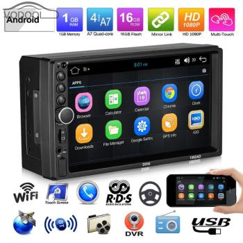 12V 7inch Car Stereo MP5 Player Touch Screen Android GPS Navigation RDS FM/AM Radio Bluetooth WiFi U Disk AUX image