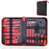 19PCS Trim Removal Installer Tool Set Car Panel Removal Tool Auto Trim Removal Pry Repair Tool Kit Hand Tools With Storage Bag