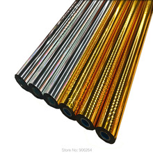 0.7X131 yds/Roll Gold Foil Paper Hot Stamping Heat Transfer Print Package Craft DIY Cards for festival