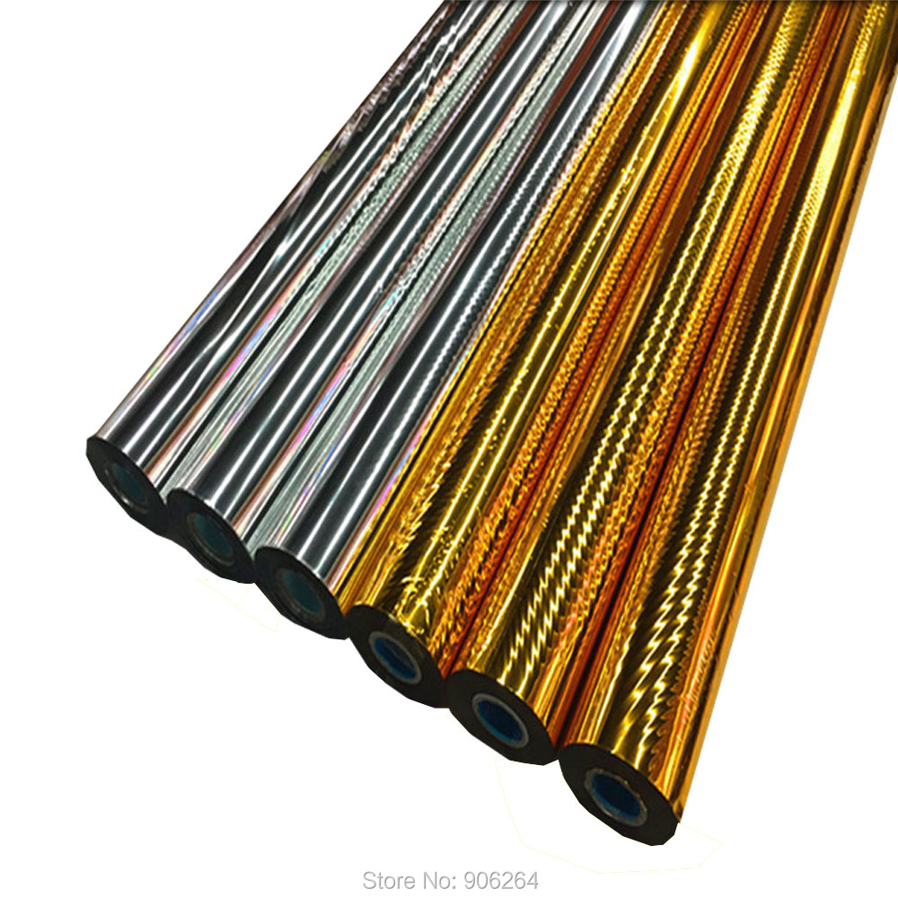 0.7X131 yds/rouleau feuille d'or papier estampage à chaud transfert de chaleur impression paquet artisanat bricolage cartes pour festival