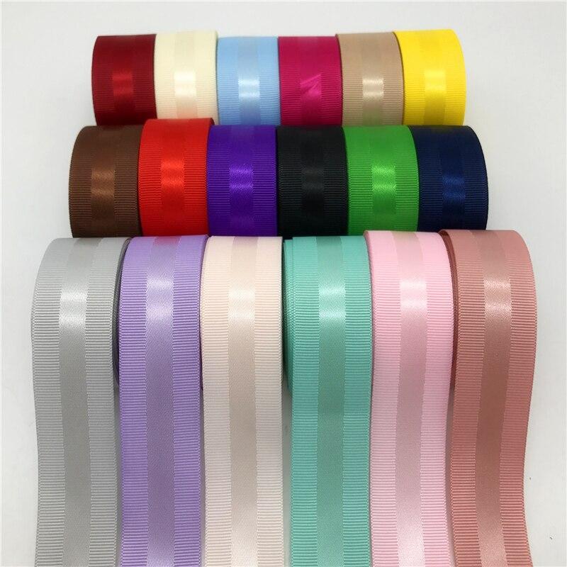 5 ярдов/партия 1 «(25 мм) Grosgrain атласная лента для оторочки волосы бант вечерние рождественское свадебное украшение Репсовая лента