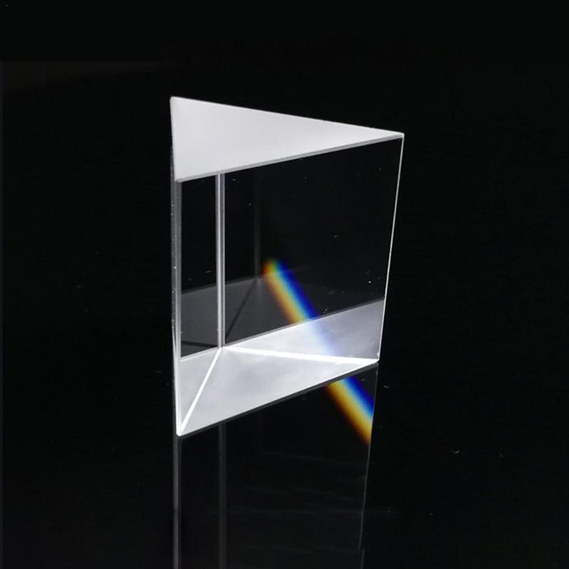 Optical Glass Prisms Crystal Triangular Prism 10*10*10mm Right Angle Isosceles Prisms For Lens Optical K9 Testing Instrument