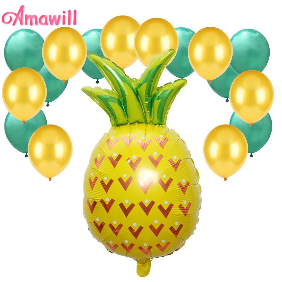 Beach Summer Tropical Party Theme Pineapple Balloons Hawaii