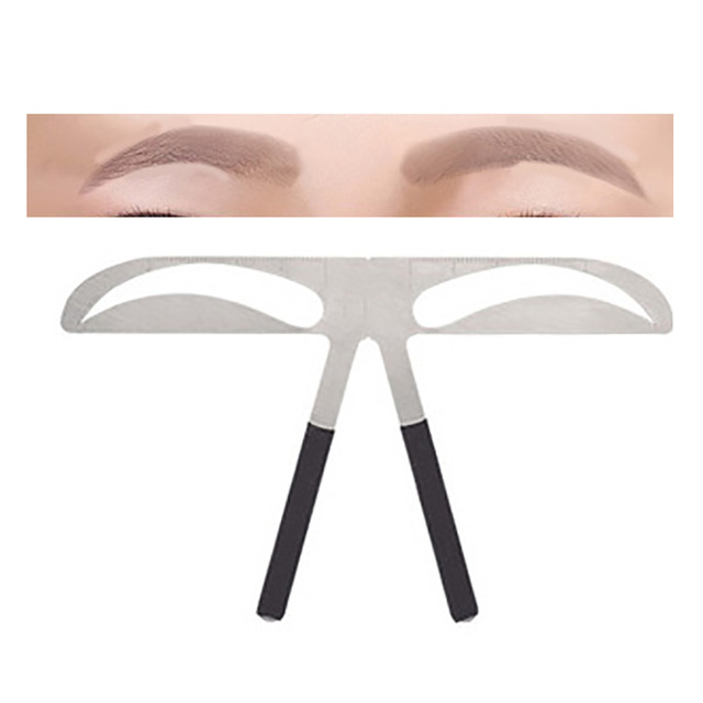 DIY Eyebrow Ruler Makeup Shaping Position Measure Tools Eyebrow Stencils Ruler Beauty Balance Tattoo Stencil Template New 1