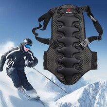 New Removable Ski Sports Back V Protection Ski Body Armor Backpiece Back Protective Protector Body Spine Black