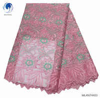 BEAUTIFICAL african fabrics lace embroidery tulle fabric french women lace fabric 2019 ML4N744