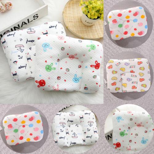 2018 Infant Newborn Baby Pillow Cushion Prevent Flat Head Sleep Nest Pod Anti Roll Kawaii Print Baby Pillow