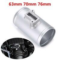 Car Air Flow Sensor Adapter 63/70/76mm MAF Adapter Aluminium Auto Air Flow Sensor Mount Fits for Honda for Ford for Nissan