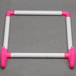 Image 2 - Ramka do haftu praktyczny uniwersalny klip plastikowy krzyż tamborek stojak wspornik do uchwytu Rack Diy Craft ręczne narzędzie