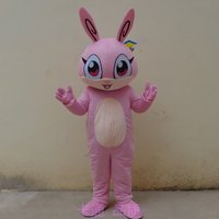 Easter Bunny Mascot Costume Suits Cosplay Party With Long Ears Happy Face Adult