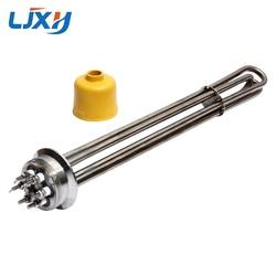 Calentador Tubular de aceite LJXH, elemento calefactor de 220 V/380 V 63mm, disco de brida de potencia 3KW/4. 5KW/6KW/9KW/12KW para estufa de aceite conductora de calor