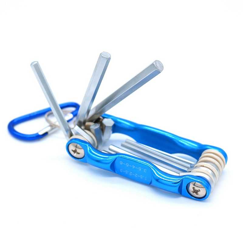 8 pces portátil dobrável chave conjunto sistema métrico hexagonal interno chave inglesa parafuso ferramentas de reparo sistema métrico hex soquete parafuso