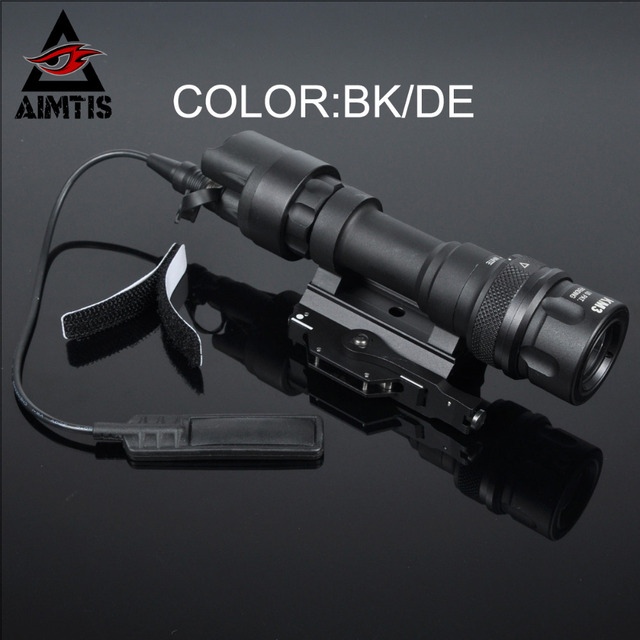 AIMTIS M952V QD Quick Release Tactical Rifle Flashlight Mount Weapon Lights with 400 Lumens for Hunting Gun Accessories