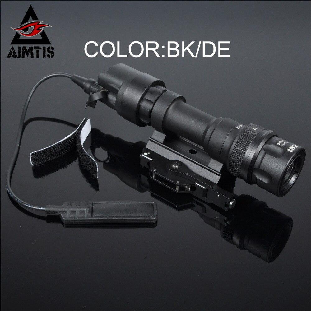 AIMTIS M952V Qd クイックリリース戦術的なライフル懐中電灯マウント武器ライト 400 ルーメン狩猟銃アクセサリー  グループ上の スポーツ & エンターテイメント からの 武器ライト の中 1